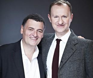 Steven Moffat e Mark Gatiss | Divulgação / BBC