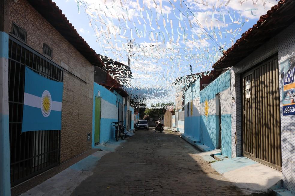 Torcedor criou Rua Argentina em protesto a corrupção do país (Foto: Artur Ribeiro)
