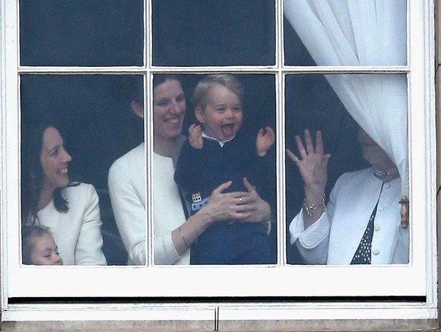 Maria Borallo. a babá real, com o Príncipe George (Foto: Getty)