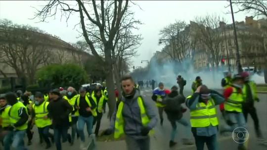 França tem quinto sábado consecutivo de protestos