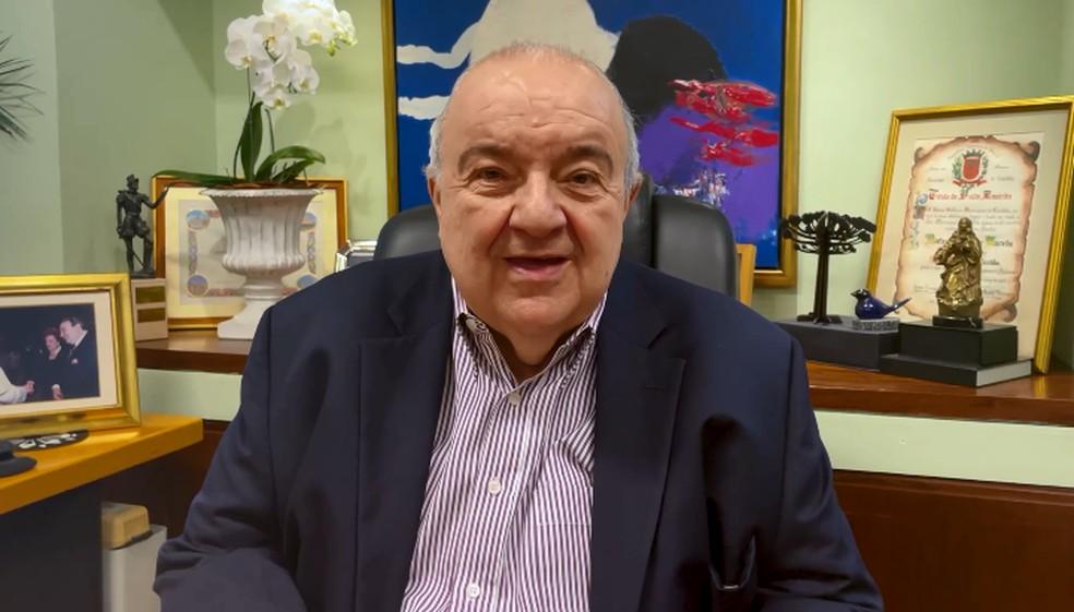 Prefeito Rafael Greca passou mal e precisou ser internado, mas está bem, segundo a prefeitura. — Foto: Reprodução/Prefeitura de Curitiba