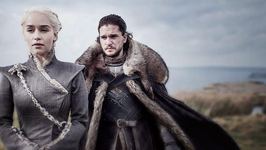 Emilia Clarke e Kit Harrington como Daenerys e Jon Snow, os protagonistas da série Game of Thrones, da HBO, criada a partir dos livros de George R.R. Martin (Foto: Divulgação)