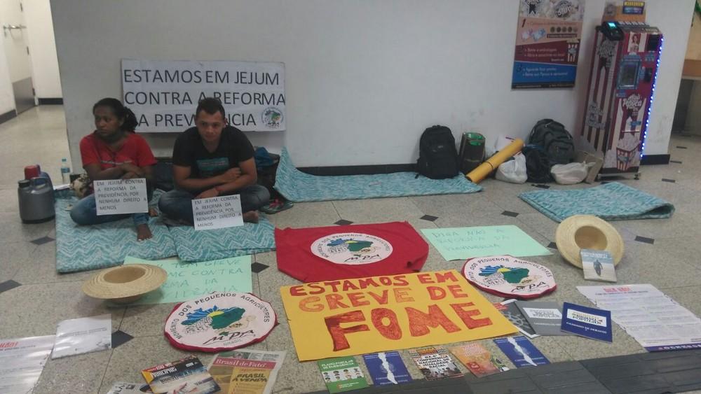 Camponeses completam primeira semana de greve de fome contra Reforma da Previdência