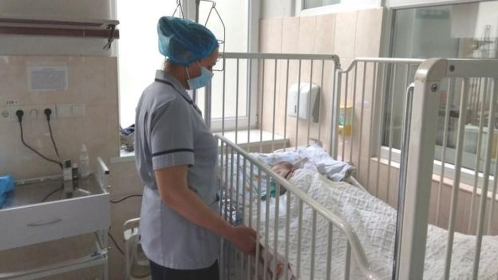 A Ucrânia teve um aumento no número de casos de sarampo nos últimos dois anos — Foto: BBC