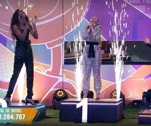 Camilla, Juliette e Fiuk na final do 'BBB' 21   Globo