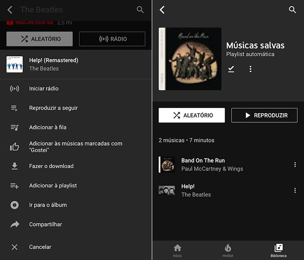 YouTube Music, lançado no ano passado, quer ser o catálogo musical mais abrangente da internet — Foto: Reprodução/Amanda de Almeida
