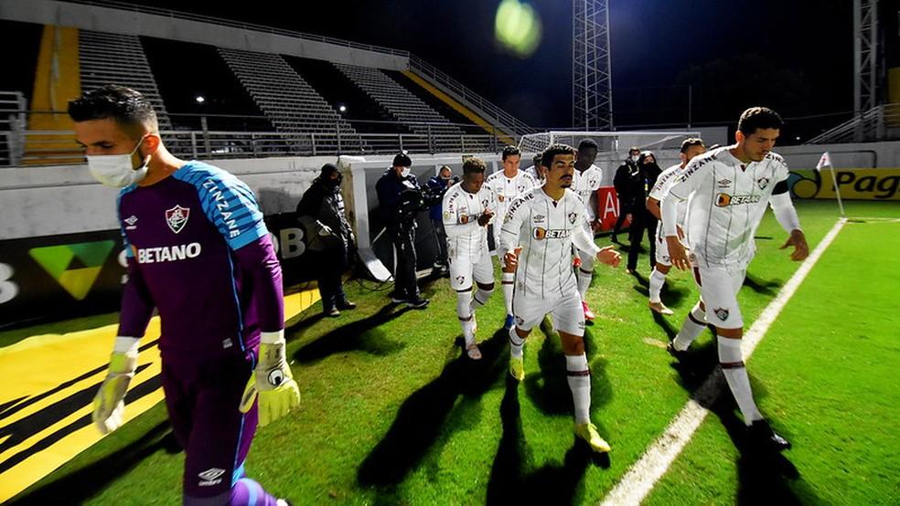 Mistão do Fluminense viveu altos e baixos contra o Bragantino — Foto: Mailson Santana / Fluminense FC