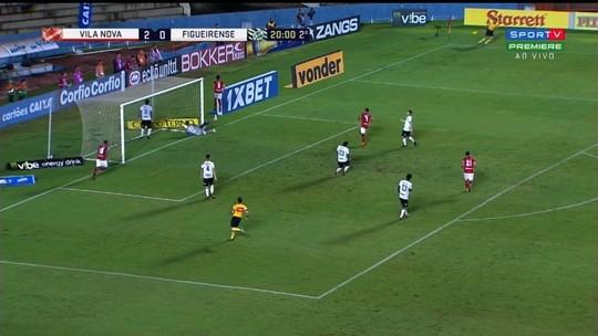 Veja os gols da partida entre Vila Nova e Figueirense