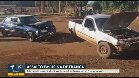 Jovem é preso e menor detido por suspeita de roubar comércio dentro de usina em Igarapava, SP
