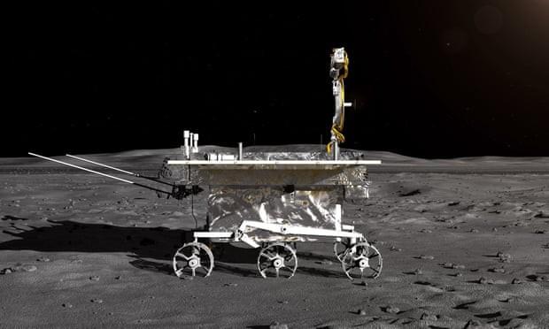 Representação artística de Chang'e-4 na Lua (Foto: China National Space Administration/HANDOUT/EPA)