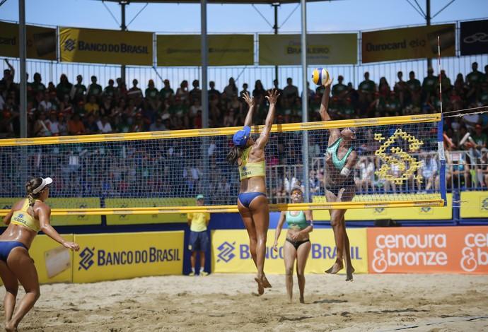 Juliana e Rebecca campeãs etapa de são josé circuito brasileiro vôlei de praia (Foto: Krysamon Cavalcante/CBV)