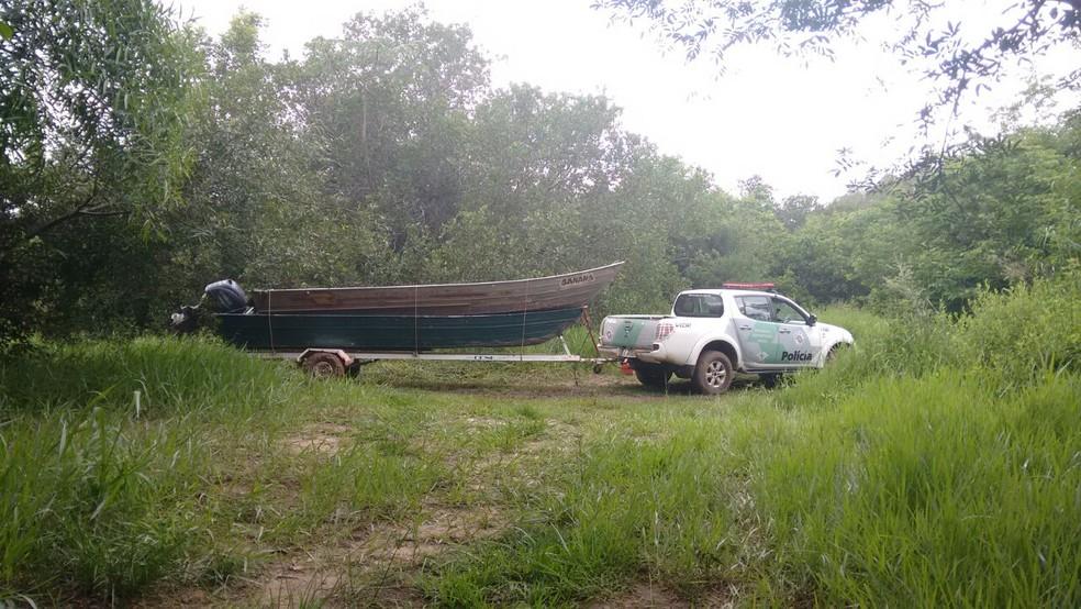 Operação Piracema foi realizada no Rio Aguapeí, em Lucélia (Foto: Cedida/Polícia Militar Ambiental)