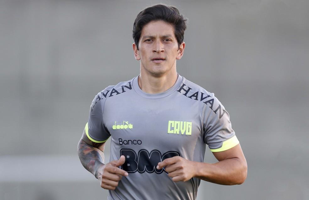 Germán Cano treinou nesta quarta-feira sem restrições em São Januário — Foto: Rafael Ribeiro/Vasco