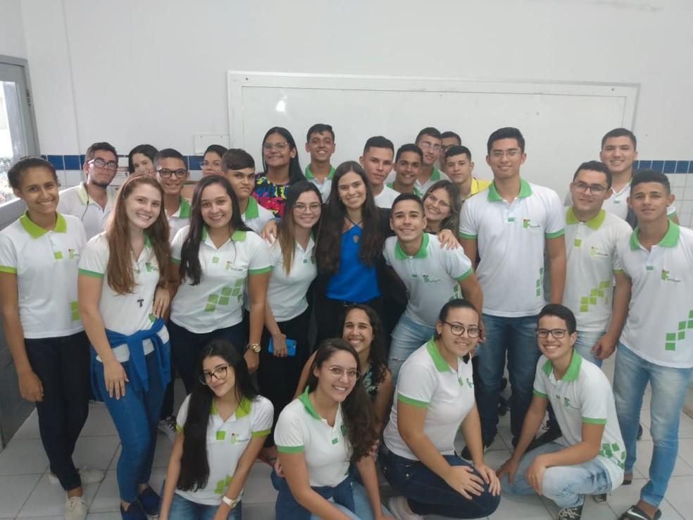 Professora do IFRN de Nova Cruz realizou projeto com alunos do 3º ano do ensino médio  — Foto: Arquivo Pessoal