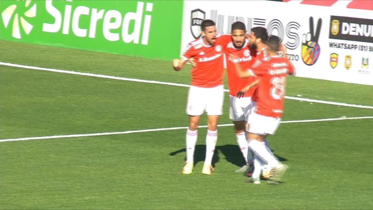Inter 2 x 0 Aimoré - Galhardo dá assistência para Guerrero