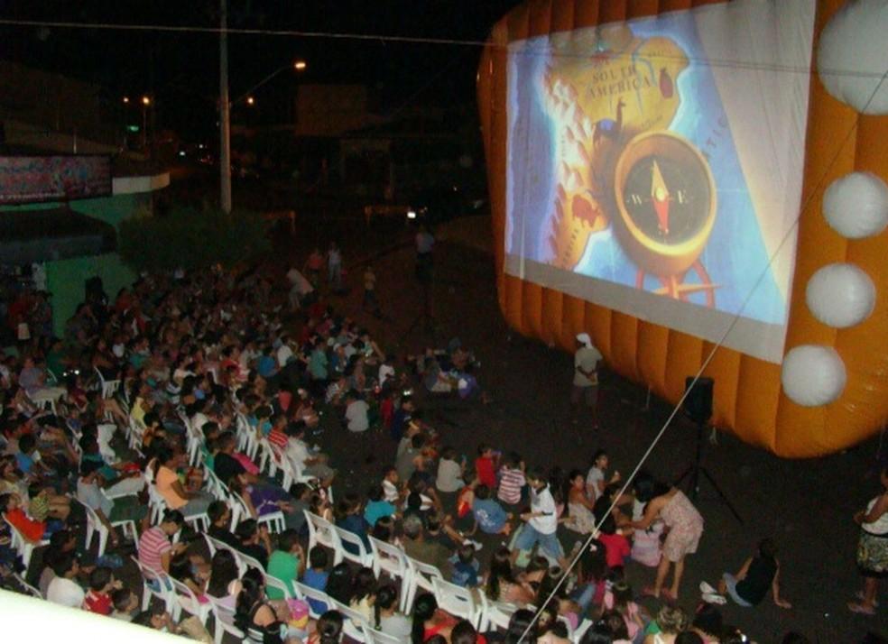 Cinema itinerante será realizado em Urupês — Foto: Divulgação