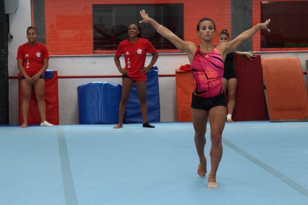 Jade Barbosa em ação no Flamengo (Foto: Divulgação/Flamengo)