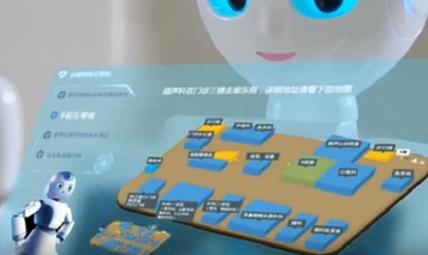Médico-robô desenvolvido pela empresa chinesa iFlytek, (Foto: Reprodução YouTube)