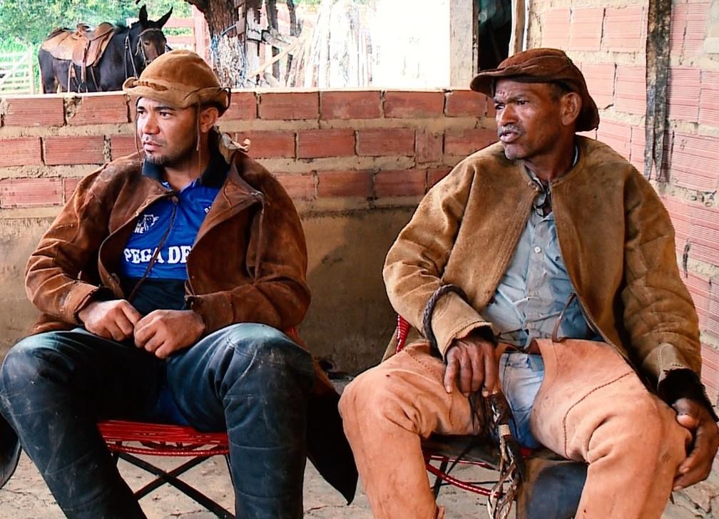 Raimundo Filho seguiu os passos do pai e também se tornou vaqueiro no Piauí — Foto: Reprodução/TV Clube