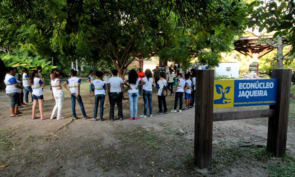 Econúcleo Jaqueira é um espaço de educação ambiental na Zona Norte do Recife (Foto: Eduardo Rodrigues/Secretaria de Meio Ambiente e Sustentabilidade/Divulgação)