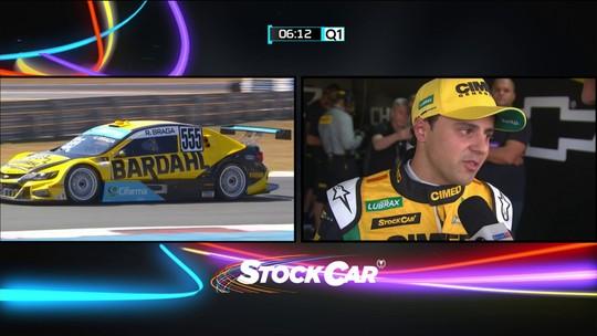 Felipe Massa explica que problema de marcha o tirou do Q2 do treino livre da Stock Car