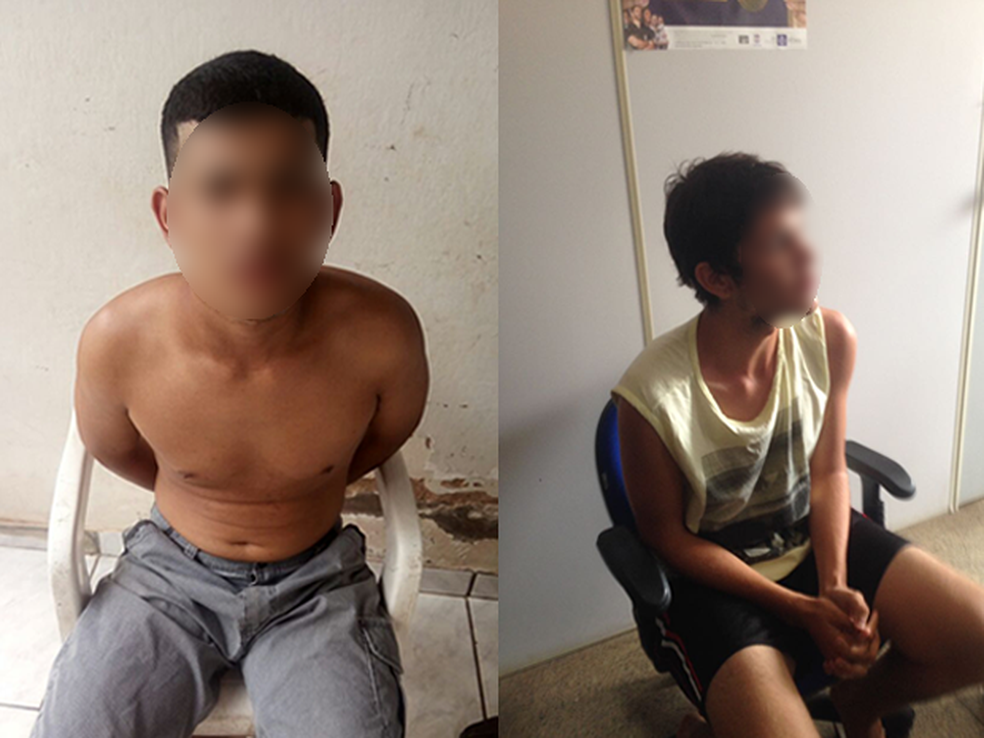 Suspeitos de assassinarem PM foram presos neste sábado (18) (Foto: PM/Divulgação)