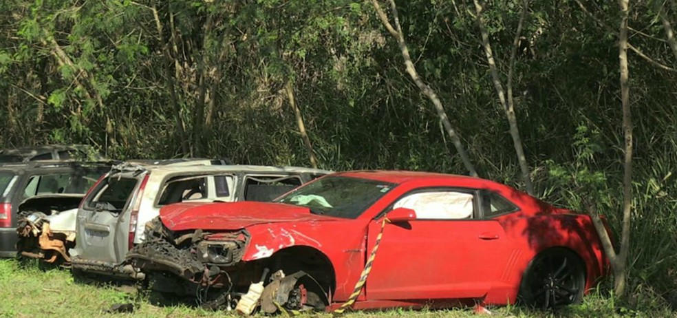 De acordo com o Instituto de Transportes e Trânsito de Foz do Iguaçu (Foztrans), o Camaro tem três registros de multas por excesso de velocidade em agosto (Foto: Reprodução/RPC)