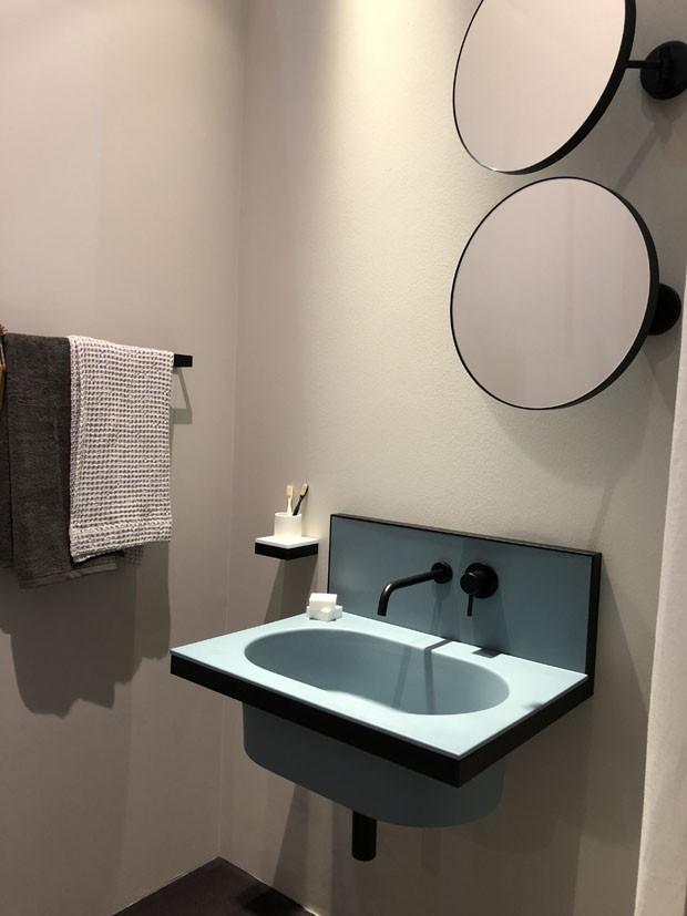 Tendências para banheiros: confira as novidades da Eurobagno 2018 (Foto: Adriana Frattini)