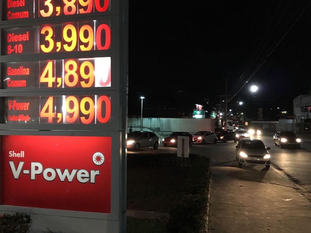 Gasolina chega a R$ 4,99 em posto da Zona Centro-Oeste de Manaus