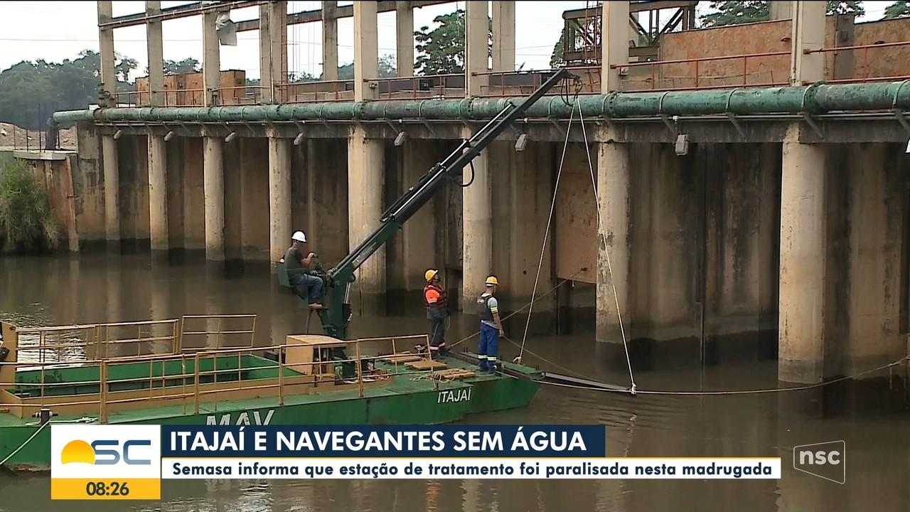 Semasa informa que estação de tratamento é paralisada em Itajaí e Navegantes