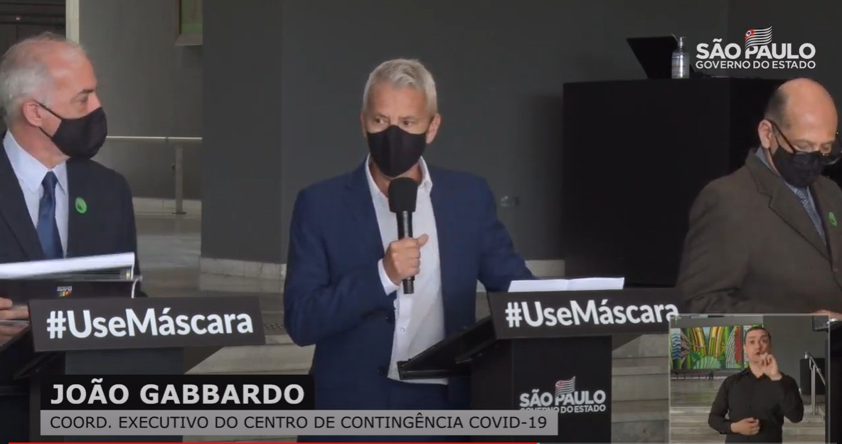 Governo diz que pode haver aumento de casos em 2ª onda da Covid-19 em São Paulo, mas sem sobrecarregar o sistema de saúde