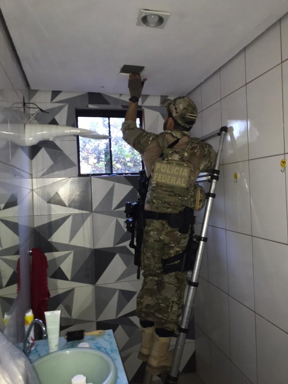 Operação Paralelo: Investigação descobriu que grupo estocava droga e depois enviada aos estados em caminhões — Foto: PF/Divulgação