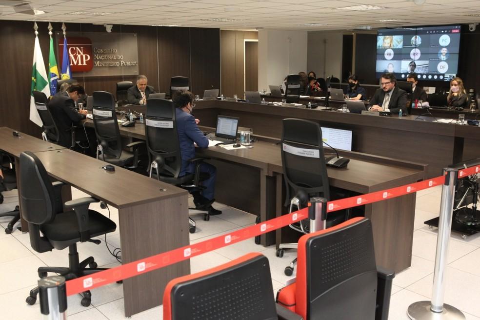 Votação aconteceu no Plenário do Conselho Nacional do Ministério Público (CNMP), nessa terça-feira (13) — Foto: CNMP/Divulgação