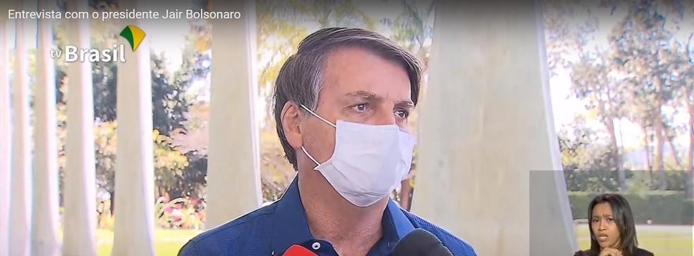 Bolsonaro diz que exame deu positivo e está com Covid-19 — Foto: Reprodução/TV Brasil