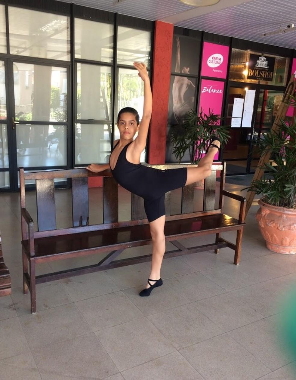 Caio Jullyano faz balé há um ano — Foto: Caio Jullyano/ Arquivo pessoal
