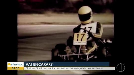 """""""Vai Encarar?"""" presta homenagem ao piloto Ayrton Senna em uma corrida de kart com amigos"""