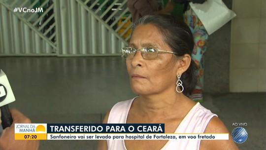 Sanfoneiro cearense que foi baleado na Bahia vai ser transferido para Fortaleza