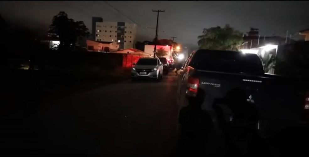 Local onde o marido de delegada foi baleado em Porto Velho — Foto: Instagram/Reprodução
