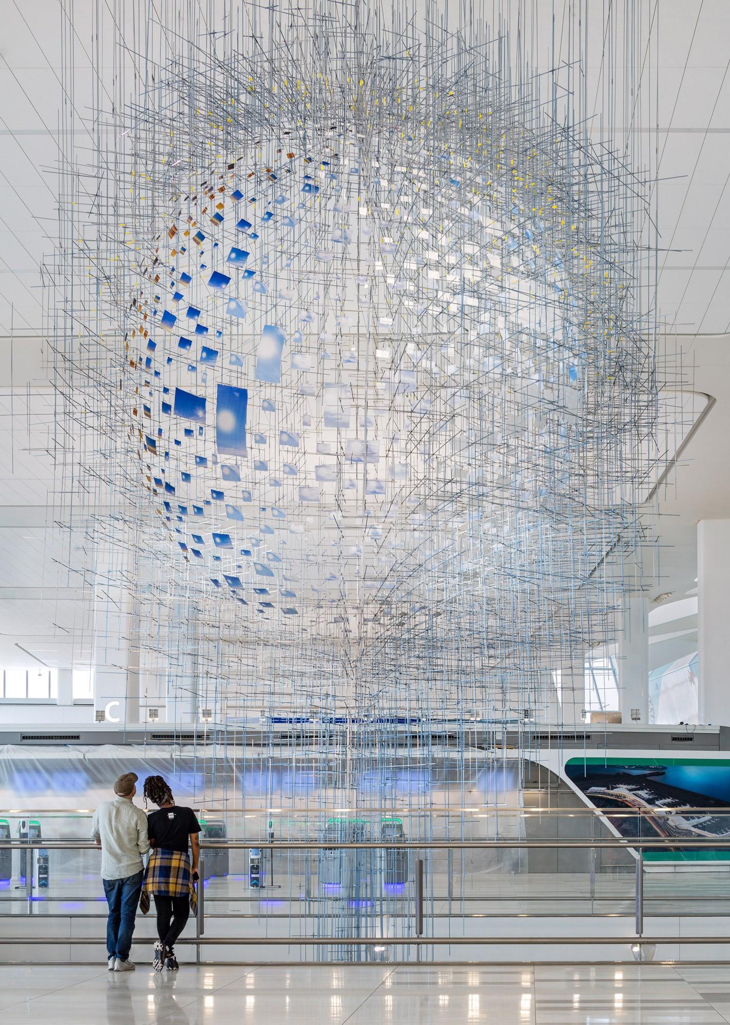 Aeroporto de Nova York tem terminal que é quase uma galeria de arte (Foto: Nicholas Knight e Tom Powell Imaging (Divulgação))