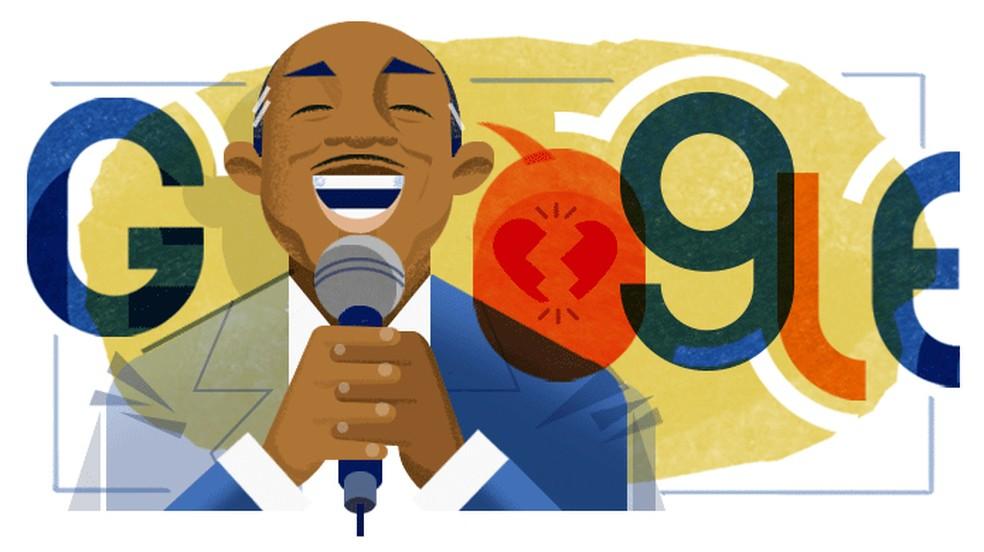 Aniversário de 105 anos do cantor e compositor Lupicínio Rodrigues é tema do Doodle do Google — Foto: Reprodução/Google
