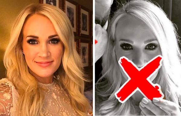 A cantora Carrie Underwood vem escondendo seu rosto desde o acidente ocorrido em novembro de 2017 (Foto: Instagram)