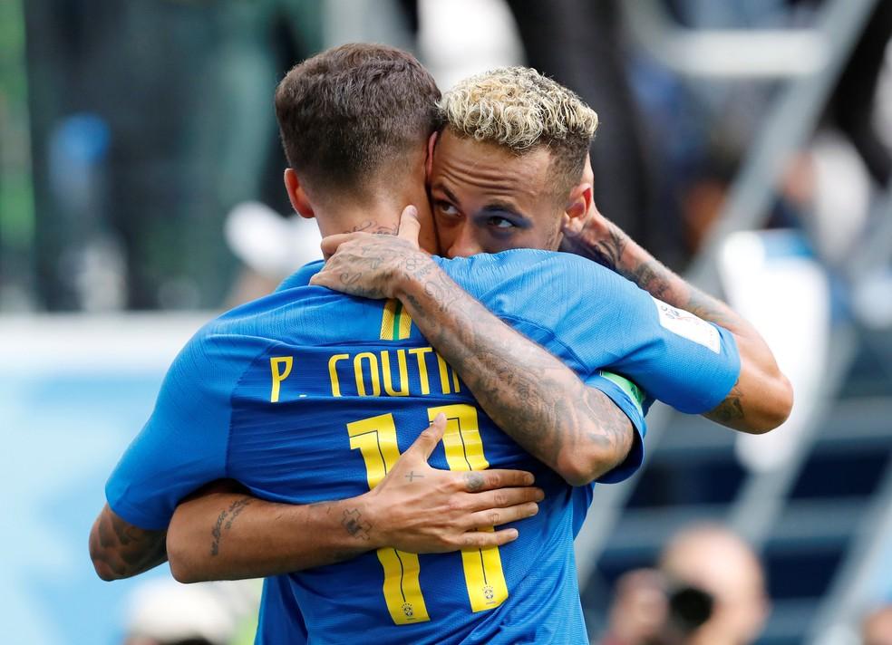 Neymar e Coutinho são duas das principais peça da Seleção de Tite (Foto: Reuters)