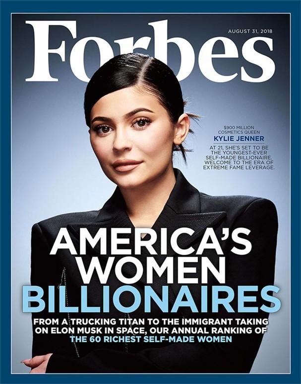 Kylie Jenner na Forbes (Foto: Reprodução)