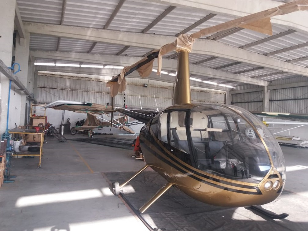 Justiça determinou sequestro de helicópteros dentro de operação da PF contra tráfico de drogas — Foto: Polícia Federal/Divulgação