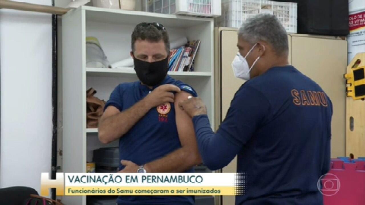 Pernambuco já recebeu mais de 80 mil doses da vacina Oxford/Astrazeneca