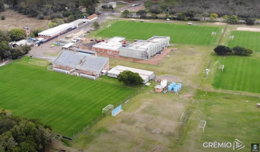 CT Hélio Dourado em obras — Foto: Reprodução/Grêmio TV
