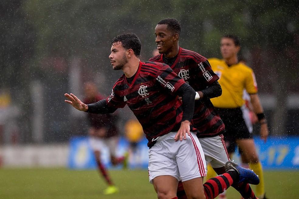 Daniel Cabral marcou um dos gols do Flamemgo — Foto: Marcelo Cortes/Flamengo
