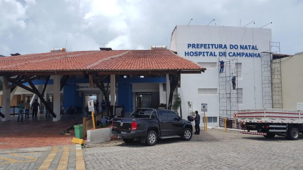 Hospital de Campanha de Natal vai funcionar na Via Costeira — Foto: Sara Cardoso/Inter TV Cabugi
