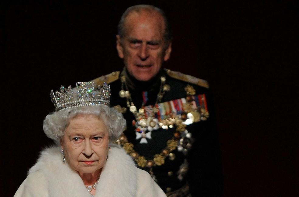 Philip e a rainha Elizabeth — Foto: Ben Stansall/Reuters