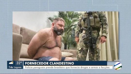 Polícia paraguaia prende brasileiro que fornecia drogas e armas a facções